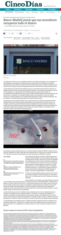 CINCO DIAS INFORME AC BANCO MADRID